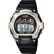 Casio Colour Series Black Digital Illuminator W-214h-1avef W214h Watch Boxed