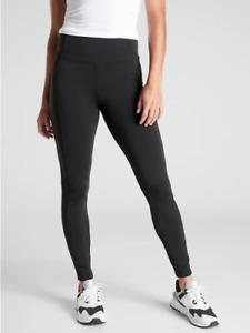 ATHLETA Delancey Street Tight Leggings XL Black Work Travel Pant #597889