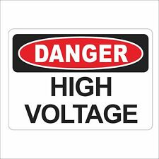 3M Graphics DANGER High Voltage Vinyl Safety Label Panel Box Car Sticker Decal
