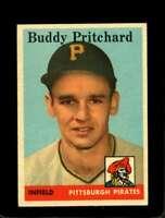 1958 TOPPS #151 BUDDY PRITCHARD VGEX RC ROOKIE PIRATES  *X01035