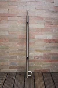 Edelstahl Geländer Pfosten Wange Treppe Balkon mit Glashalter Pos 1--