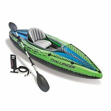 Kayak Canoa gonfiabile Challenger K2 Intex 2 posti con Remi e Gonfiatore