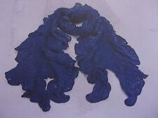 Echarpe bleu marine à volants laine 160 x 25 cm  *** PARIS FASHION ***  NEUVE