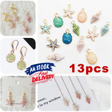 13 Pcs/Set DIY Making Metal Mixed Shell Conch Charms Pendant Starfish Jewelry
