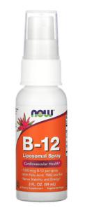 Now Foods B-12 Liposomal Spray 1,000 mcg 2 fl oz 59 ml Cardiovascular, Nerve