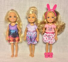 "Mattel Barbie Kelly Chelsea Sister Dolls 5.5"" Modern Dressed Clothes D92"