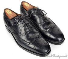 CROCKETT & JONES Polo Ralph Lauren Black Wingtip Mens Dress Shoes - 10 D