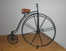 Vintage WROUGHT IRON Wheeled Bicycle Black Unique