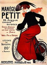 Manege Petit Bicyclette Vintage French Nouveau France Poster Print Advertisement
