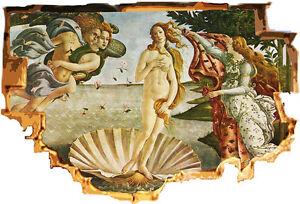 quadro-trompe l'oeil-la nascita di venere- adesivo per muro-botticelli-arredo