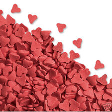 EDIBLE RED HEART SUGAR SPRINKLES  VALENTINE CAKE DECORATIONS