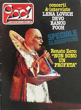 CIAO 2001 3 1980 Renato Zero Lene Lovich Devo Pooh Bob Seger Toto Dr Hook Banco