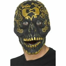 Deluxe Masquerade Mask Skull - Adults Fancy Dress Halloween Scary Costume
