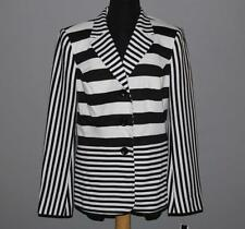 John Meyer Black & White Striped Stretch Lined Blazer Wms 10 NWT MSRP $170 Nice