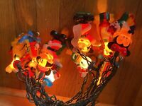 Vintage Disney Mickey Mouse Donald Duck Goofy Christmas Tree Lights String
