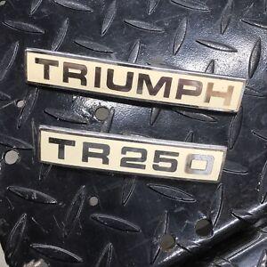 Triumph TR250 Fender Badge Emblems Original