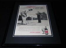 1958 Lucky Lager Beer/ Golf 11x14 Framed ORIGINAL Vintage Advertisement