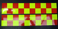 Self Adhesive Reflective Battenberg Side Reflectors 500mm Red/Yellow