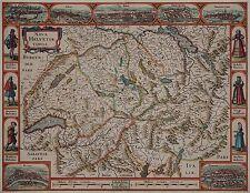 Nova Helvetiae Tabula - Schweiz - Hondius 1633 - Rare map of Switzerland