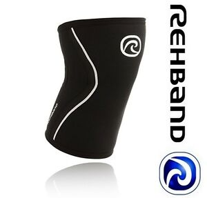 NEW CrossFIT Knee Support Rehband 105306-03 Rx Black/Silver Weightlifting | 5mm