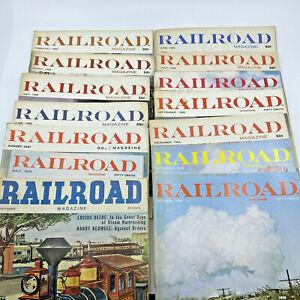 Railroad Magazine 1960s 1970s Train Vintage Railway Collection Lot of 14