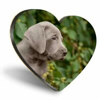 Heart MDF Coasters - Weimaraner Puppy Dog Cute Pet Animal  #24418