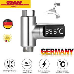 LED Duschthermometer Selbstgenerierender Echtzeit-Wasserdurchfluss S0A2