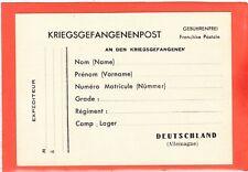 CARTE COURRIER PRISONNIERS DE GUERRE 39/45 NEUVE / KRIEGSGEFANGENENPOST NEW