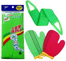 Italy Towel Long Exfoliating Bath Back Washcloth x 1pcs + Glove Scrub x 2pcs