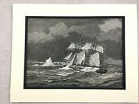 1875 Antico Stampa Uss Jeannette Nave Hms Pandora Artico Exploration Expedition