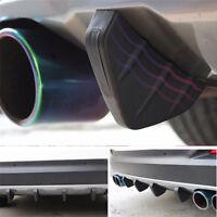4Pcs PVC Rear Bumper Lower Diffuser Lip Spoiler Bumper Diffuser Universal Black