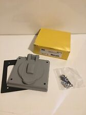 HUBBELL WIRING DEVICE-KELLEMS HBL7777A Weatherproof Cover, Thermoplastic