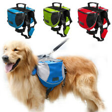 Dog Hiking Gear for Dogs Camping outdoor Pet Pack Backpack Saddle Bag Rucksack
