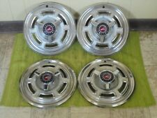 "1965 Ford Falcon Spinner Hub Caps 14"" Set of 4 Wheel Covers 65 Hubcaps"