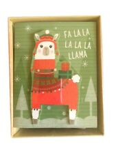 Llama Boxed Christmas Cards Boxed 3 D Cut Out 18 cards and envelopes New