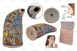 Multi Pure Himalayan Salt Pipe Inhaler Boost Respiratory Strength & Lungs+ Salt