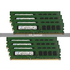 Samsung 24GB 6X4GB DDR3 1333MHz PC3-10600E 240pin CL9 ECC Unbuffered Memory ram