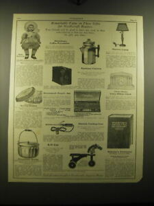 1925 Needlecraft Ad - Baby Bunting Doll, Sewing Basket, Eastman Camera