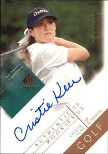 2003 SP Authentic Golf Card #129 Cristie Kerr Rookie Auto /1999