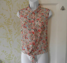 New Look Collared Floral Sleeveless Tops & Shirts for Women