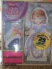 DISNEY SOFIA'S DRESS UP - Magnetic Wooden Dress-up Doll and Playhouse