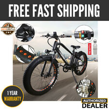 """26"""" 300w Fat Tire Electric Bicycle Mountain Ebike With 36v10a Lithium Battery"""