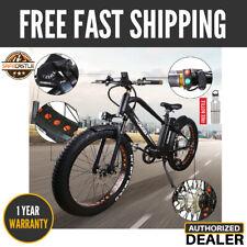 "New NAKTO 26"" 500W Electric Bike Fat Tire Mountain eBike 48V 12A Lithium Battery"