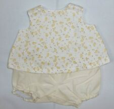 Cream Print A-Line Top & Panty to fit Deluxe Reading Baby Boo Doll