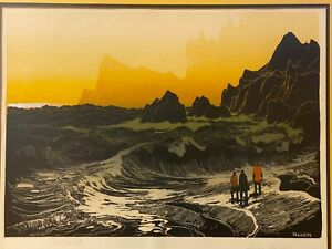 "Elton Bennett Hand Signed Serigraph ""Around the Cape""  Washington State Artist"