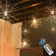 120 Led Firework Fairy Lights Starburst Hanging Outdoor Garden Christmas Tree