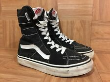 RARE🔥 VANS Super Sk8-Hi XX Tall Boots Black Canvas Sz 5.5 Men's - 7 Women's VTG
