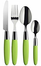 Viners Fondant 16 Piece Cutlery Set Lime Green Handles Gift Boxed