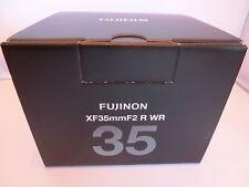 New  Fujifilm Fujinon XF35mmF2 R WR Black Lens for X mount cameras