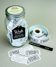 Splosh Glass Wish Jar Baby Dreams Baby Shower Guest Wishes & Pen Celebrate Gift
